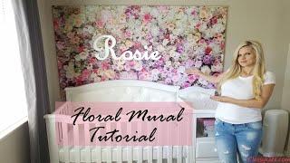 Diy Floral Mural For Baby Girl Nursery