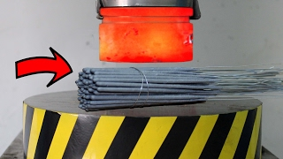 EXPERIMENT Glowing 1000 degree HYDRAULIC PRESS 100 TON vs SPARKLERS