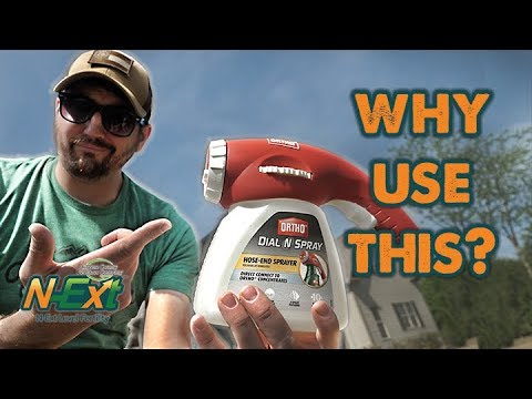 How To Use Ortho Dial N Spray Hose End Sprayer // N-Ext DIY Lawn Care Tips