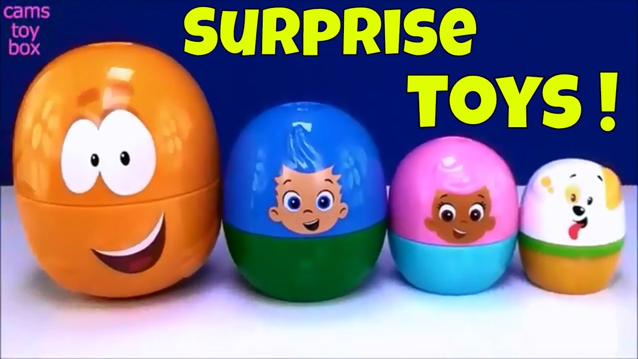 Bubble Guppies Stacking Cups Surprise Toys Mlp Trolls Num