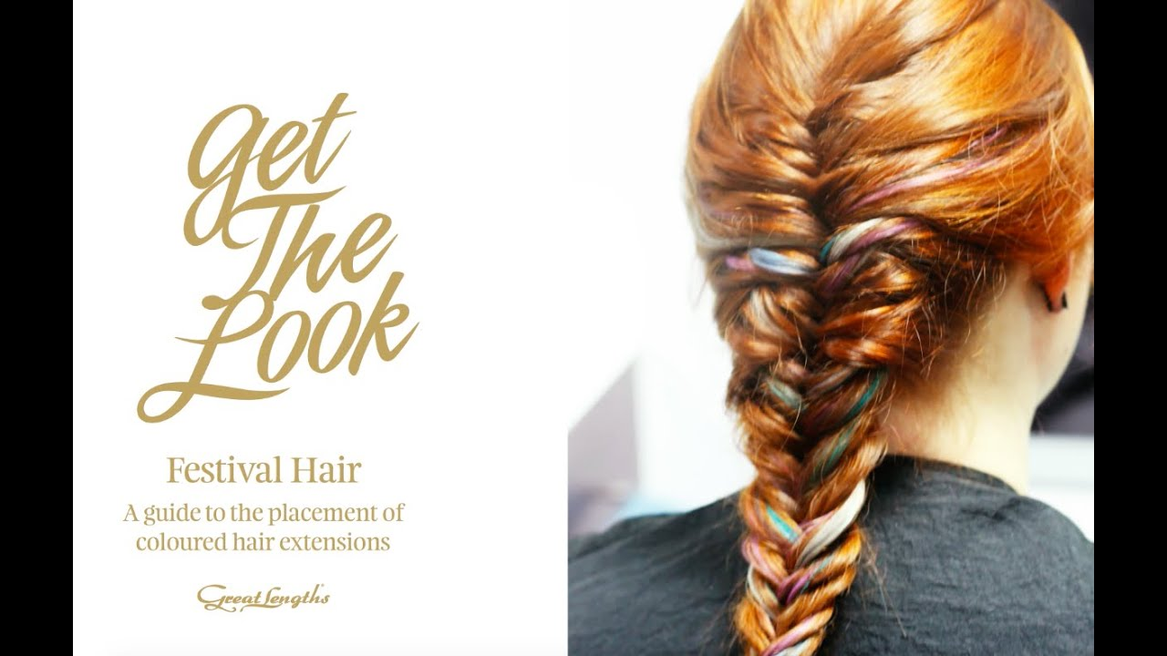 How To Apply Coloured Hair Extensions With Great Lengths Festival