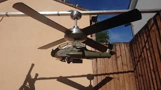 Apache attack helicopter ceiling fan.