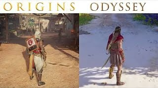 Assassin's Creed Odyssey vs Origins | Graphics