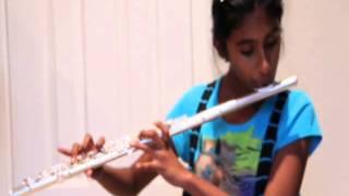 Kavya playing Vara Veena... on her flute