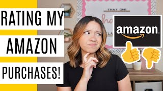 Rating My Amazon Purchases For My Classroom!