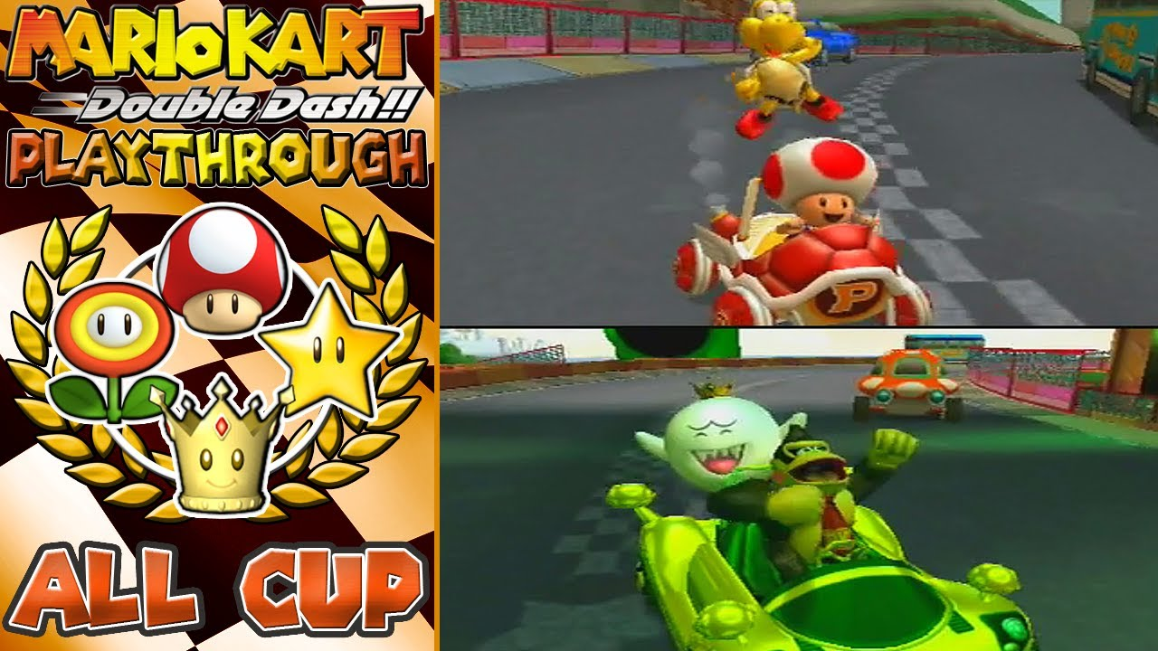 Mario Kart Double Dash!! (150cc) - All Cup Tour 1/2 (Part ...