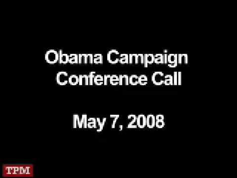 Obama Campaign Conference Call