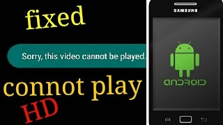 how to fix cannot play this video