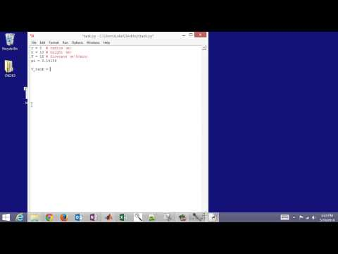 Python for Engineers: Tank Overflow Example - YouTube