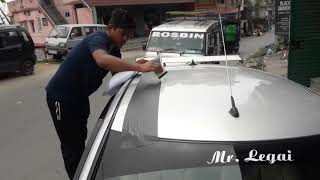 Swift car simple modification//Swift car modification with black sticker/Swift car body modification