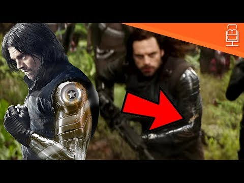 Winter Soldier Has Gold Vibranium & Tribal Design in His New Arm