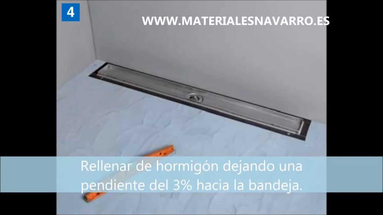 Montaje canal y rejilla para ducha youtube - Rejillas de ventilacion para banos ...