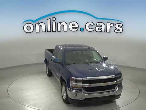 A15328YT Used 2018 Chevrolet Silverado 1500 Blue Truck Test Drive, Review, For Sale