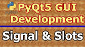 PyQt Tutorial-8-Event handler in a button - YouTube