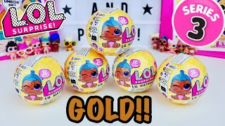 LOL SURPRISE Series 3 Wave 2 CONFETTI POP DOLLS!! GOLD BALL FOUND!! Meet Lil Boss Queen! L.O.L