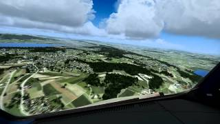 FSX  2X speed  A320 Airbus X  LSZH Switzerland professional x