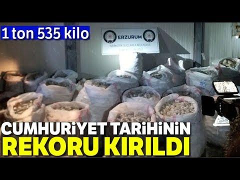 Erzurum'da 1 Ton 535 Kilo Ele Geçirildi