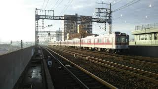 近鉄南大阪線 普通大阪阿部野橋行き 6020系C53編成+6020系C41編成 到着シーン