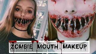 Zombie Mouth Makeup | SFX Tutorial