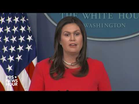 WATCH LIVE: President Donald T sarah sanders