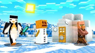Minecraft BUT The ENTIRE World is ICE