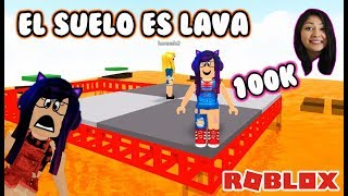 THE FLOOR IS LAVA IN ROBLOX | THE FLOOR IS LAVA IN SPANISH | KORI