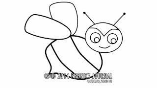 Развивающий мультик. Как говорят животные. Пчела(Развивающий мультик Звуки животных: Пчела поёт песенку Алфавит для детей - Мультик раскраска Как говорят..., 2014-02-05T06:00:01.000Z)