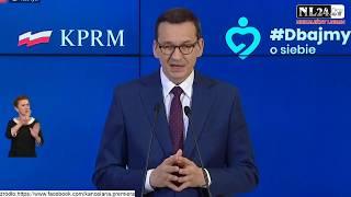 Konferencja Premiera Morawieckiego - znoszenie kolejnych  obostrzeń od 18 maja