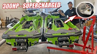 Mini Jet Boat Build Part 3: Destroying BRAND NEW Jet Skis For Their Supercharged ROTAX Hearts!