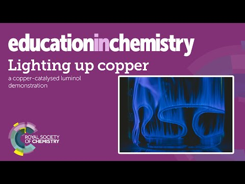 Lighting up copper – transition metal and chemiluminescence demo