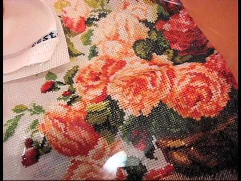 Как стирать готовую вышивку. How to wash embroidery.