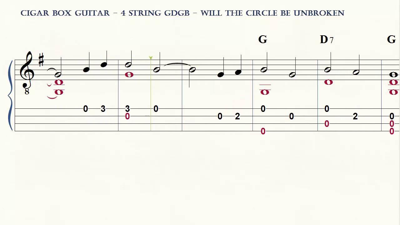 Cigar Box Guitar 4 String Will The Circle Be Unbroken Youtube