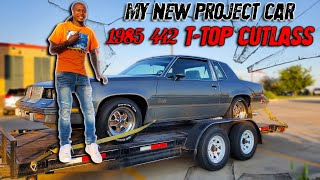 PICKING UP MY NEW CAR 1985 442 T-TOP CUTLASS
