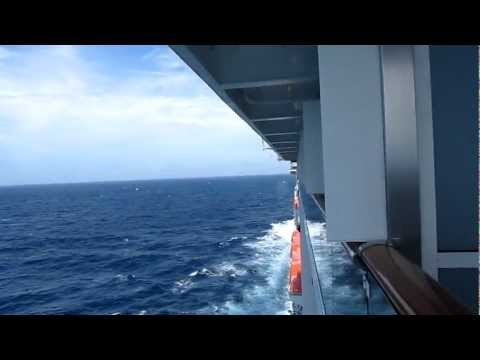 Carnival Miracle - Fighter Jet flyby