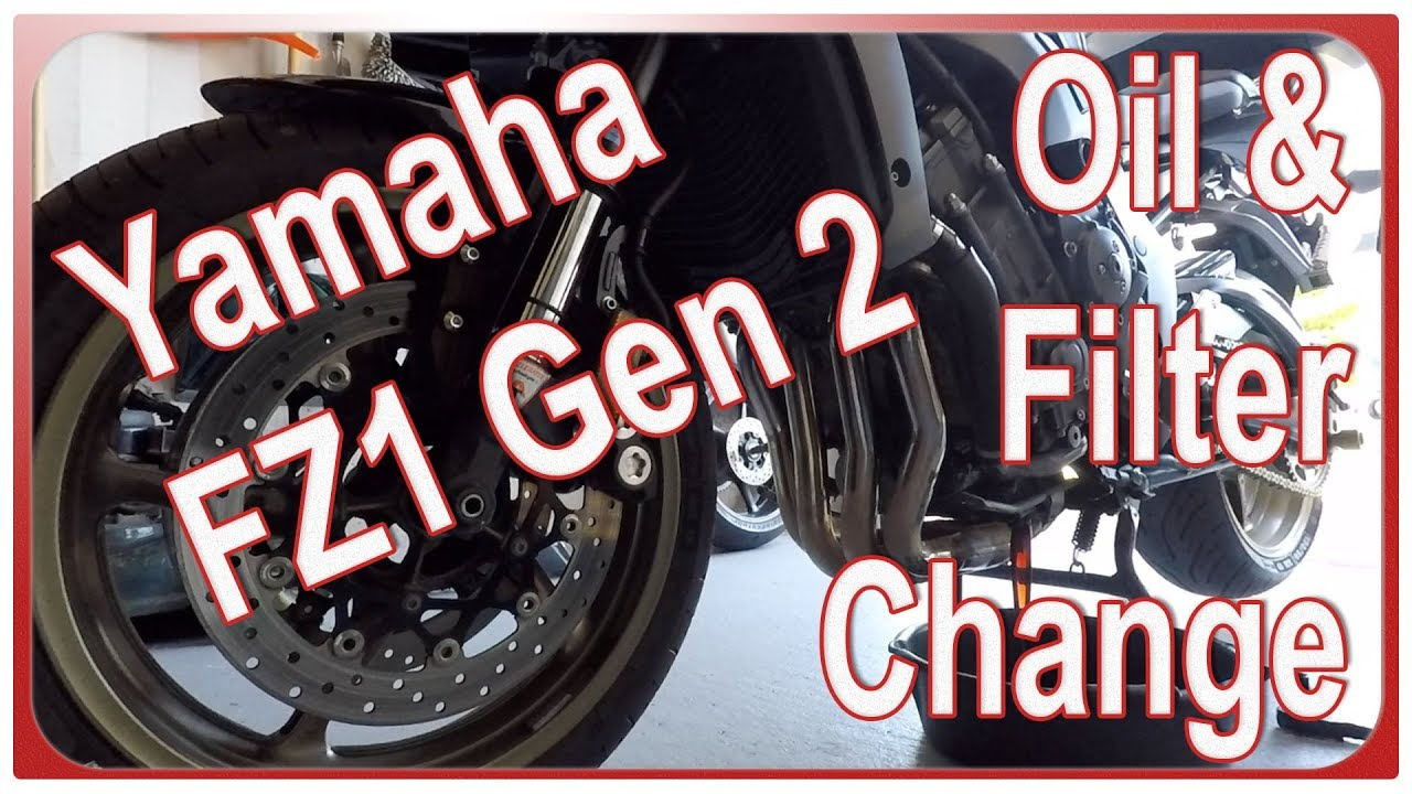 How to change engine oil and filter on Yamaha FZ1 Gen 2 (2006 - 2015)