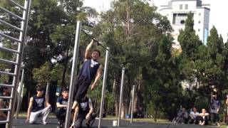 台灣街頭健身團練2015之教練團表演Taiwan street workout 2015 carnival: the coaches' performance