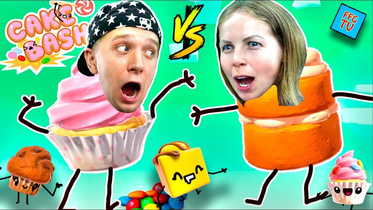 БИТВА ТОРТИКОВ и Других ВКУСНЯШЕК Челленжд в игре Cake Bash!