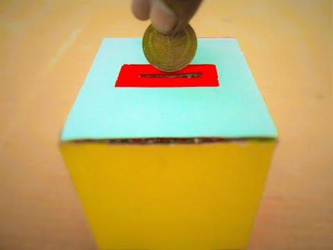 How to Make a cardboard Money Box | Make a Savings box