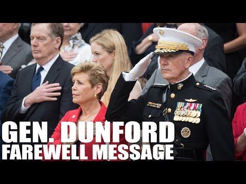 Gen. Dunford Farewell Message