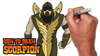 How to Draw Scorpion (Injustice: Gods Among Us) Video Lesson