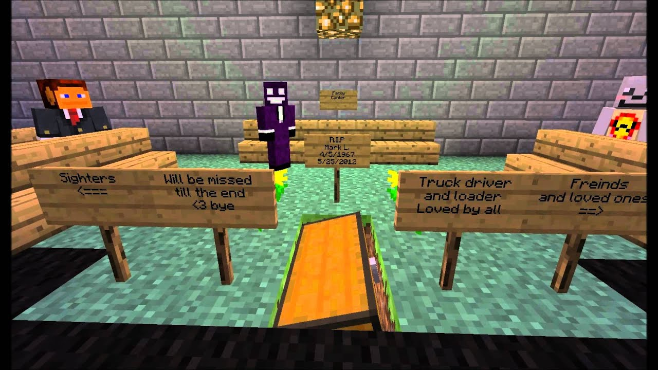 Minecraft Funeral Youtube
