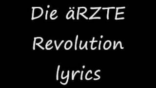 Die Ärzte Revolution lyrics
