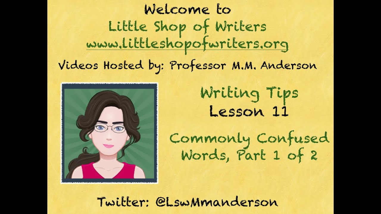 hight resolution of Lesson 11: Commonly Confused Words Pt. 1 of 2 - YouTube