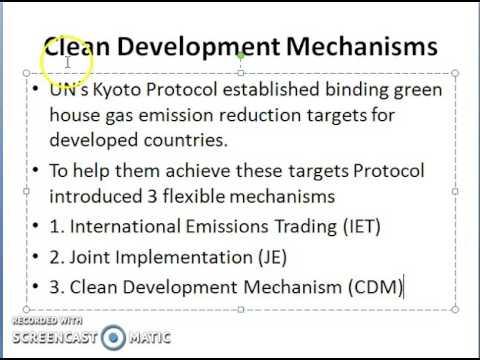 CDM - Kyoto Protocol