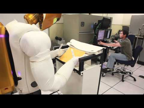 Robonaut 2 Space Blanket Demo