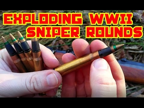 EXPLODING WW2 Sniper Ammunition - 8mm