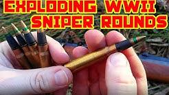 EXPLODING WW2 Sniper Ammunition - 8mm