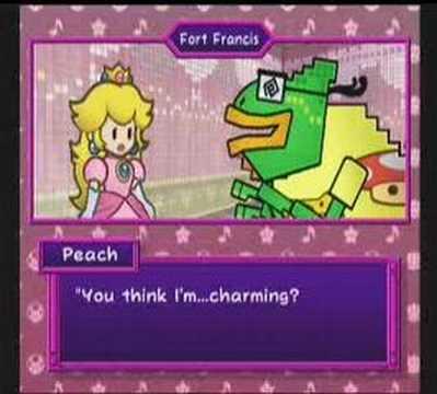 Super Paper Mario cutscene - Francis' dating sim