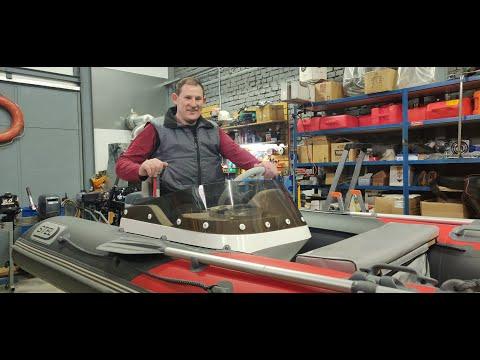 Оснащение лодки РИБ Elen 375 установка лодочного мотора Yamaha 9,9 GMHS под дистанцию