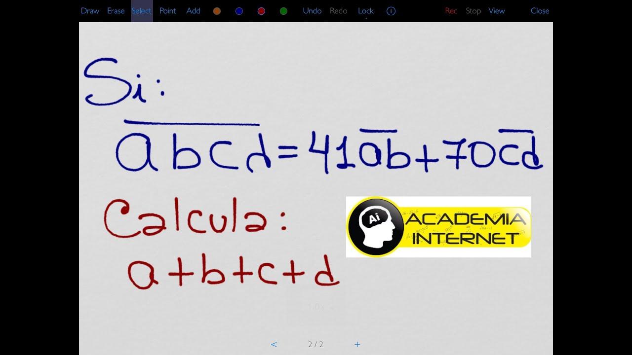 Si abcd=41.ab+70.cd  ; hallar a+b+c+d